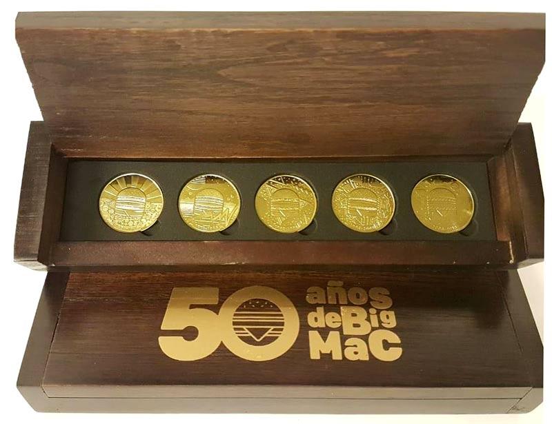 monedas 50 BigMac - 50 Años Incomparables