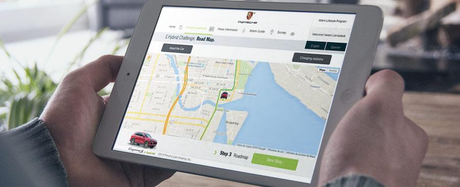 TABLET PORSCHE - PORSCHE Miami Drive