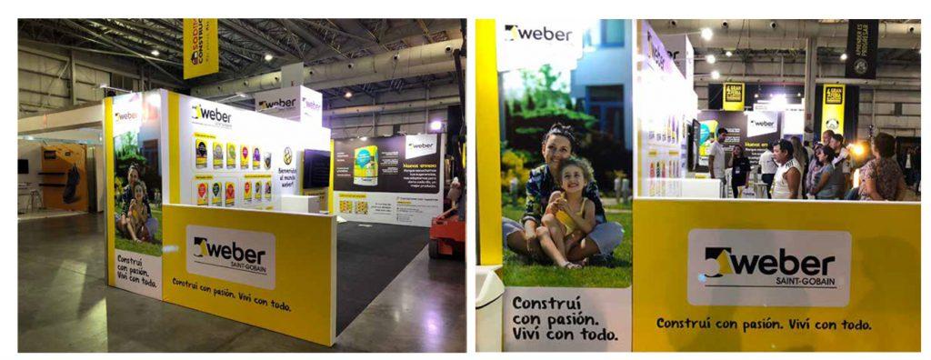 web stand 1 1024x396 - Weber: creamos el stand de la Gran Feria de Capacitación para Especialistas de la Construcción
