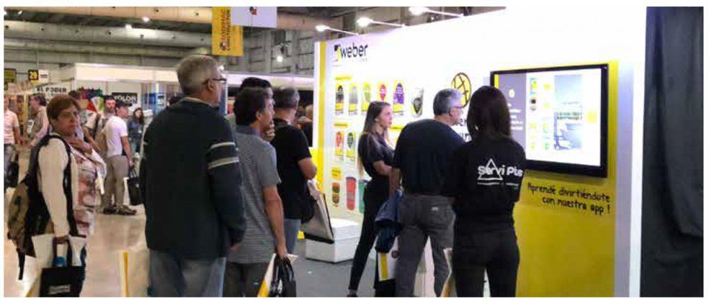 web stand 4 1 1024x442 1024x442 - Weber: creamos el stand de la Gran Feria de Capacitación para Especialistas de la Construcción