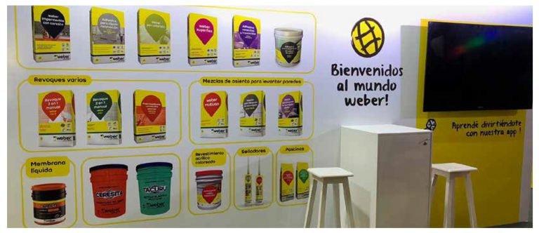 Weber: creamos el stand de la Gran Feria de Capacitación para Especialistas de la Construcción