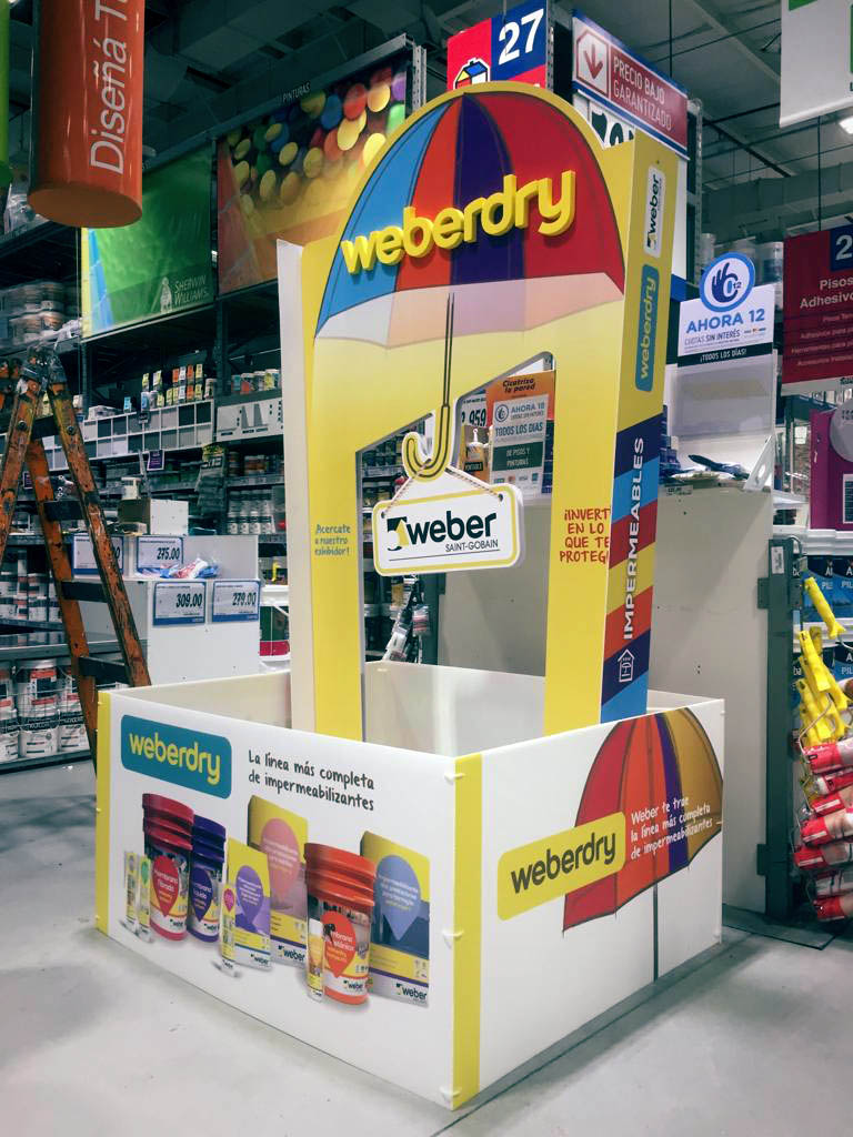 weberdry - Weber en home centers: una acción para alcanzar al consumidor en el punto de venta