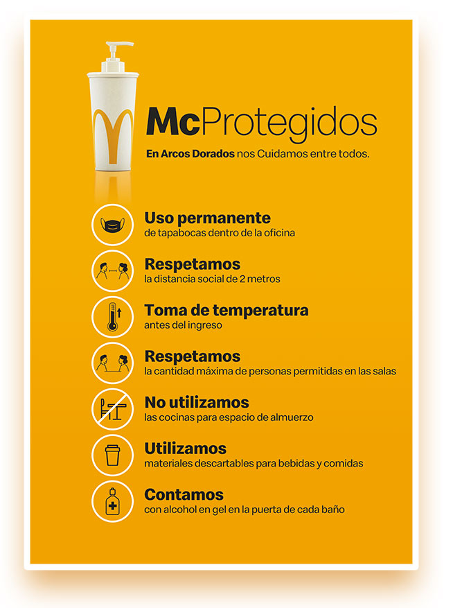 arcos dorados MCprotegidos - Comunicación interna en pandemia: plan para Arcos Dorados